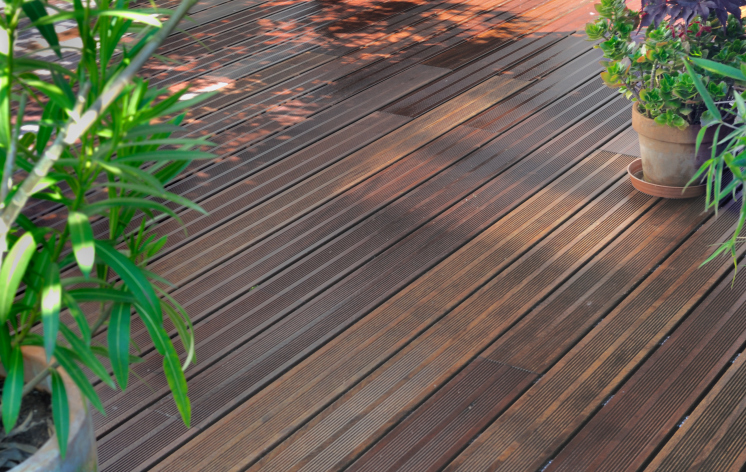 deck cleaned for spring