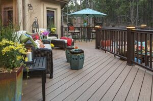 example of composite deck that could be used with trex decking