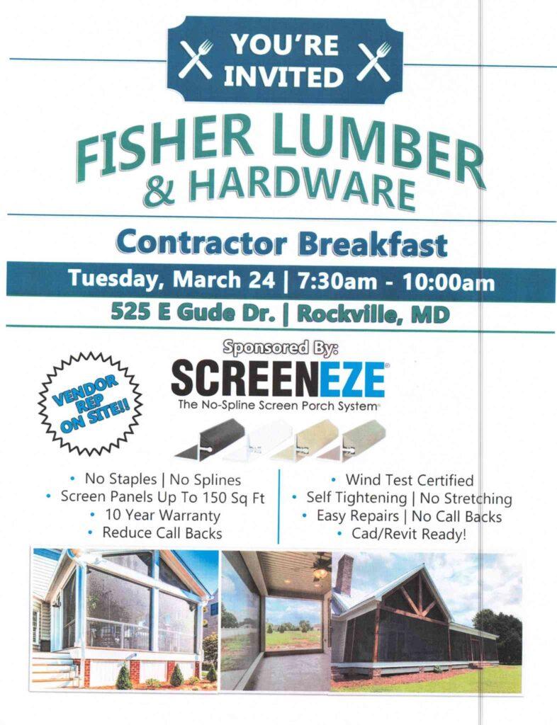 Fisher Lumber Contractor Breakfast