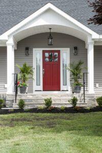 Craftsman-style exterior door